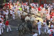 Fotos del tercer encierro de San Fermín 2018.JONAN BASTERRA