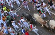 Fotos del tercer encierro de San Fermín 2018. REUTERS