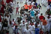 Fotos del tercer encierro de San Fermín 2018.REUTERS