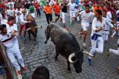 Fotos del tercer encierro de San Fermín 2018.EFE