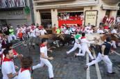 Fotos del tercer encierro de San Fermín 2018.JESÚS CASO