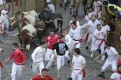 Fotos del tercer encierro de San Fermín 2018