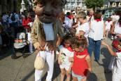 Fotos de los gigantes y cabezudos de Pamplona, 10 de julio de San Fermín 2018