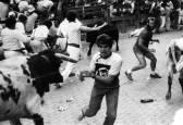 La hemeroteca de San Fermín: Los rostros del pánico en el encierro