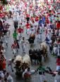 Fotos del cuarto encierro de San Fermín 2018.REUTERS