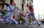Fotos del quinto encierro de San Fermín 2018