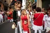 Fotos de los gigantes y cabezudos de Pamplona, 12 de julio de San Fermín 2018