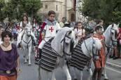 Desfile que da comienzo a la Semana Medieval de Estella.