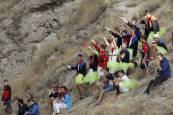 Imágenes del séptimo encierro del Pilón de las fiestas de Falces 2018, 18 de agosto