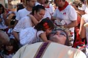 Fotos de la despedida de los gigantes y la paellada en el último día de las fiestas de Murchante (21 de agosto de 2018)
