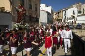 Procesión en el Día de Santa Fe de las fiestas de Caparroso 2018