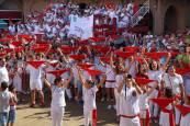 Cohete anunciador de las fiestas de Villafranca en honor a Santa Eufemia (15 de septiembre)