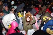 Lanzamiento de nueces en las fiestas de la Virgen de la Peña de Fustiñana