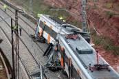 Descarrilamiento de un tren en Barcelona