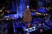 Encendido del árbol de Navidad de Rockefeller Center, en Nueva York