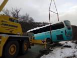 Evacuación de escolares de un autobús en Aralar