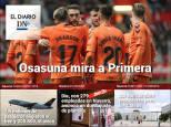 El Diario DN+: Osasuna duerme líder tras ganar en Gijón