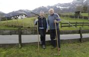 La red de cables de hierba en Araitz