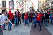 La afición de Osasuna en Soria