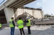 Derribado el puente de Tudela