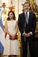 Los reyes de España durante su visita a Argentina