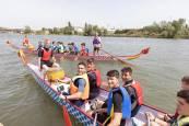 'Dragones' surcando las aguas del río Ebro
