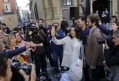 Las imágenes del paso de Inés Arrimadas por Pamplona