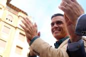 Pedro Sánchez visita Pamplona durante la campaña electoral