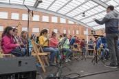 Escuelas de toda Navarra llevan su música a plazas y calles de Estella