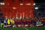 Fotos del Osasuna 1-0 Oviedo y la celebración