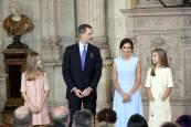 Fotos del acto de imposición de condecoraciones a ciudadanos de todas las comunidades autónomas, coincidiendo con el quinto aniversario del reinado de Felipe VI