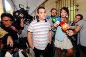 Los miembros de La Manada a su llegada este viernes a los Juzgados de Sevilla