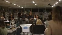 Rodaje de 'Crónica de una tormenta' en Diario de Navarra