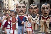Salida de la Comparsa de Gigantes y Cabezudos del día 7 de julio