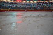 Las tormentas obligan a suspender la corrida de toros del 8 de julio