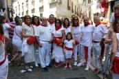 San Fermín recibe el cariño de los pamploneses