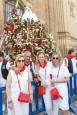 Ofrenda floral a Santa Ana durante las fiestas de Tudela 2019