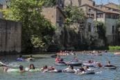 Los jóvenes de Estella toman el río Ega