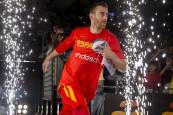 Amistoso de baloncesto España-Lituania en el Navarra Arena