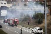 Fotos del incendio de Olaz, el 26 de agosto de 2019