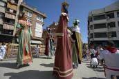 Fotos del encierro y de la comparsa de gigantes y cabezudos de fiestas de Peralta 2019