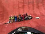 Operación de rescate en buque que volcó en EE UU