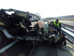 Un herido en un accidente de tráfico en la A-21, dirección Pamplona