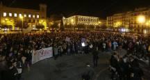 Concentración en Pamplona por el Día Internacional contra la violencia hacia las mujeres