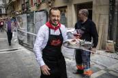 Fotos de la I Carrera de Bartenders y Camareros por el recorrido del encierro