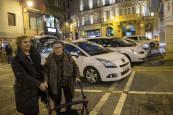 Fotos de la vuelta en taxi de los internos de distintas residencias de Pamplona