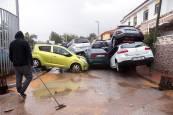 Inundaciones en la capital malagueña por las lluvias torrenciales