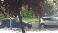 Fotos de la tormenta y granizo caído este sábado en Pamplona y Comarca