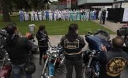 Fotos del homenaje de los moteros navarros al personal sanitario