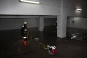Garajes inundados tras la tormenta en Tudela